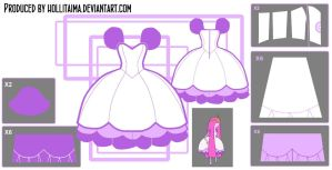 Princess Bubblegum Lilac Puff Cosplay Design Draft by Hollitaima