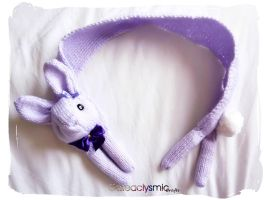 Violet Bunny Scarf by Cateaclysmic