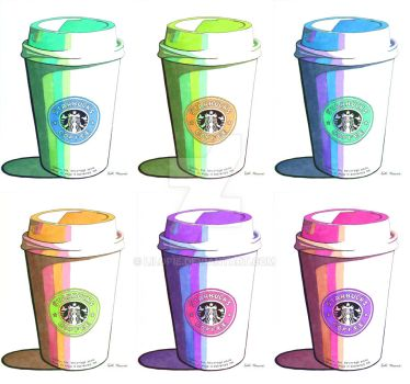 Starbucks Warhol Style Pop Art by lilopie