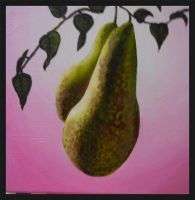 Pears On Pink by SmorgArt
