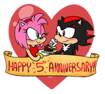 Sonic: Happy 5th Anniversary by SugarKills