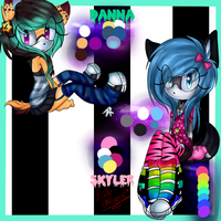 I forgot to introduce danna and skyler new baabes by LittleChewrrie