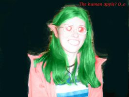 THe human apple by apple-kitty