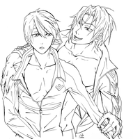 Haru and Rin -::Collab::- WIP by SixthIllusion
