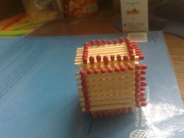 cube madeof matches by tuta158