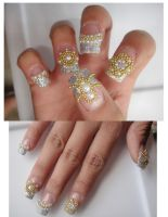 Nail Designs I made for a cust by jadelushdesigns