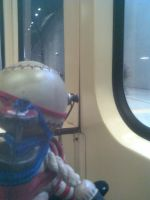 Mr. Bubbles on the train by CreepyCheeseCookie