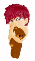 Gaara with teddy by Carrie-Tempest