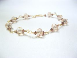 pink and gold bracelet by faranway