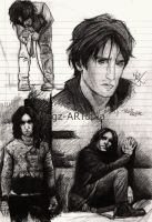 Trent Reznor Sketches by Megz-ARTopia