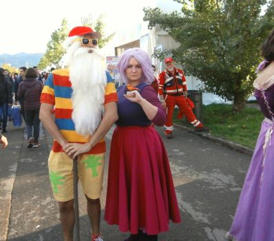 Merlin, Madam Mim and Wart-Sparrow Cosplay by LuXoN94