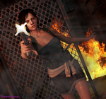 Destruction of Raccoon City by PhantomSovereign