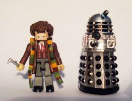 4th Doctor (Tom Baker) Custom Minimate by luke314pi