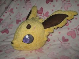 Jolteon Plushie WIP: head by Renegar-Kitsune