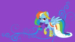 Rainbow Dash Wallpaper by bluepaws21