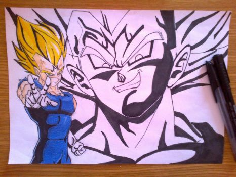 DBZ_Majin Vegeta by Lucy-hearttfillia