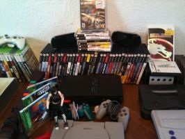 Video Game Collection 2015 (Playstation 2/3/psp) by elvenbladerogue