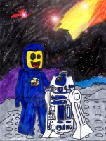 Benny and R2-D2 by SonicClone