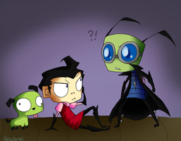 Invader Zim - the switch by HezuNeutral