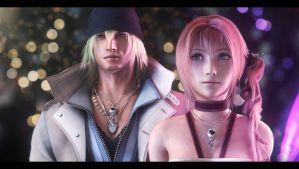 Snow and Serah by AnubisDHL