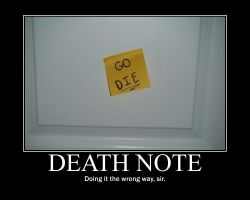 Demotivational Death Note Ver. II by CandyAppleKiss
