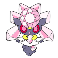 Diancie pokedoll label vector by Ika-chian