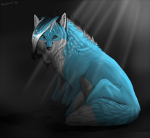 Blue fox by DakotaW-Wolf