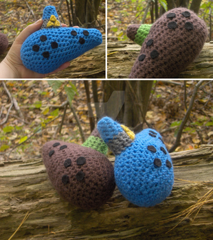 Legend of Zelda-Ocarina of Time Amigurumi Ocarinas by PerilousBard