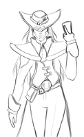 Twisted Fate sketch by That-Nerdy-Red-Head