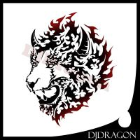 Fire Style Lion Tribal by DJDragon