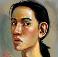 Digital Self Portrait Sketch by Gorrem
