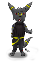 Shadow the Sub-Umbreon by Threehorn