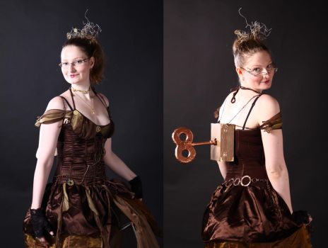 Close-up Steampunk Gown by Twiganut