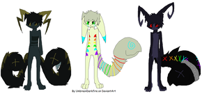 Antrho Tailmouth Adoptables :OPEN: by Silhouett3s