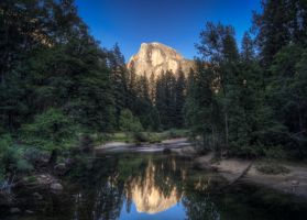 Half Dome Sunset by CryptikFox