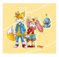 Sonic- Tails Cream and Cheese by o0Essa0o