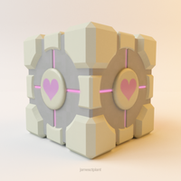 Weighted Companion Cube by Pixelgeezer
