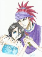Renji and Rukia by Michael1525