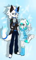Brother:::Silver and Ice:::Sister by gisselle50