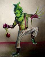 Tim Burton style: The Grinch by theblacklagoon00