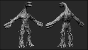 Matt R's creature concept in Zbrush 001 by liamslackofsurprise