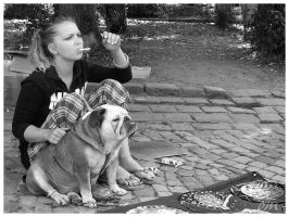 The Lady and The Dog by dianathema