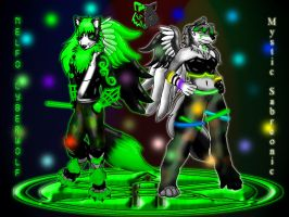 Nelfo meet Mystic on Neon Scroll for rave by ceeme521