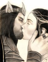 Aragorn and Arwen by Wild-Huntress