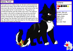 Pixel Ref. (New fursona) by Obsidianthewolf