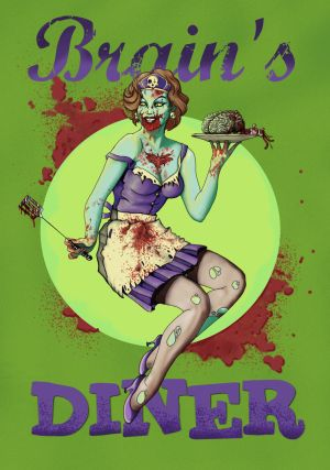 Zombie Girl at Brain's Diner
