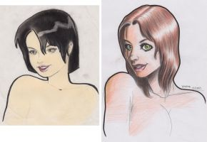 girls compare by wender