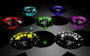 Chaos Emeralds Wallpaper by CalicoStonewolf