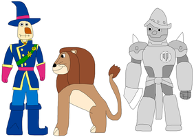 Scarecrow, Lion, and Tin Man by jacobyel