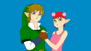 Rose and Link by kisshugirl